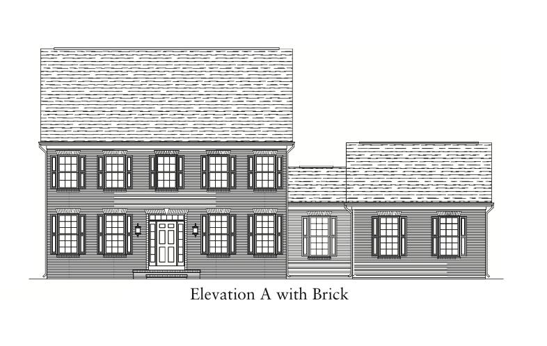 Bedford II Elevation A with Brick