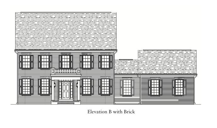 Bedford II Elevation B with Brick