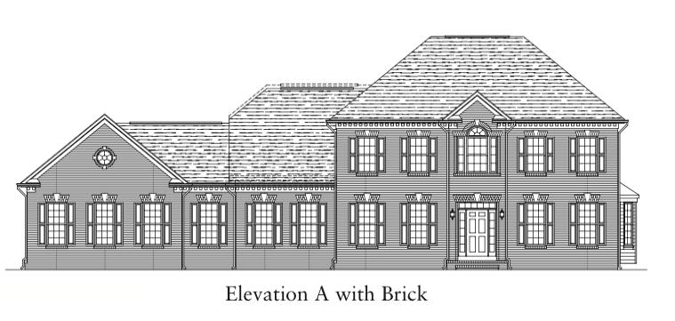 Glenmore Elevation A with Brick