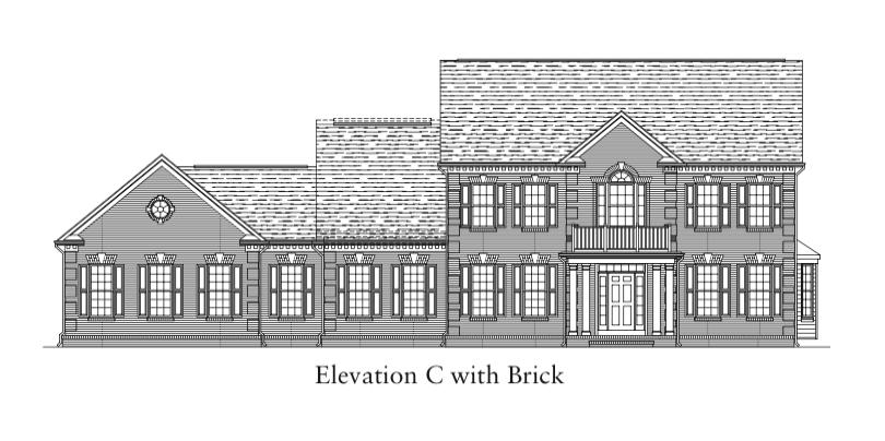 Glenmore Elevation C with Brick
