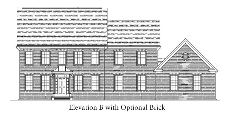 Keswick Elevation B with optional Brick